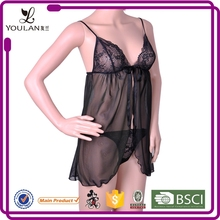 Beautiful sexy fashionable cute sexy bedroom wear transparent lingerie