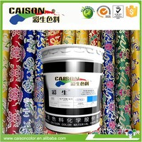 Water based screen printing pigment color in chemical