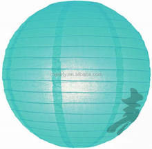 round paper lanterns for party and holiday decoration Blue Fashion heart round paper lanterns