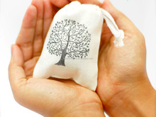 Wholesale China supplier eco-friendly 100%cotton dust pouch seed cotton pack