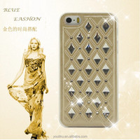 Fashionable hard cover case set shining rhinestone case for IPhone 5 5S