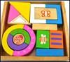wooden storage blocks wooden toy blocks with box, children wooden blocks for children