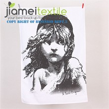100% Cotton Girl Photo Printed Tea Towel Dish Towel Kitchen Towel