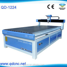 QD-1224 china shandong jinan decoration art craft industry g code 4d woodworking cnc router