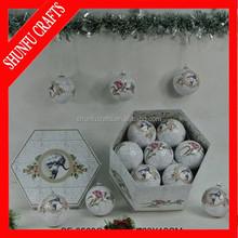 snow white porcelain christmas ornament