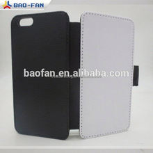 High Quality Blank Sublimation Leather Case for ip6 Leather Wallet Mobile Phone Cover for Ipone 6