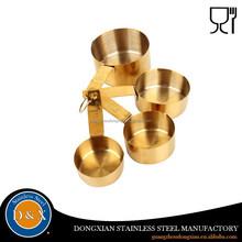 golden stainless steel adjustable 20ml 50ml 100ml measuring cup