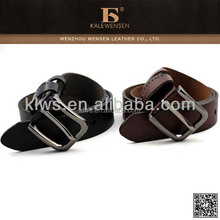 Latest wholesale designers leather belt with round leather covered belt buckle