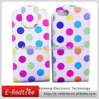 2015 Hot selling phone leather case for iphone 5c back cover housing