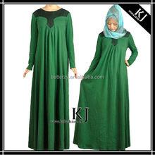 2015 Hot selling muslimah maxi dress kaftan jubah in Malaysia KJ-AM33