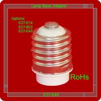Environmental protection and energy saving plastic led lamp holder /light base
