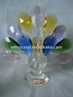 Handicrafts mix color crystal peacock figurine MH-D0210