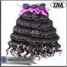 China best wholesale website ynx human hair extension grade 6a natural wave virgin peruvian human hair 100% raw unprocessed