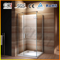 Unique Design Hinged Compact Stainless Steel Shower Stall 800X1200mm EX-418