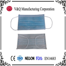 Hospital 3 layer anti dust face mask with earloop