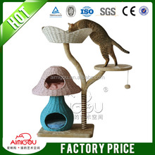 2015 Top quality deluxe china sisal cat tree with 16 years factory