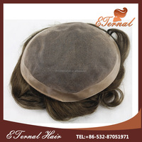 Best Quality swiss lace toupee 8X10 stock mono and pu breathable wig hair piece toupee for black men