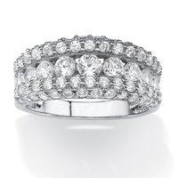 WDR39 Factory Price Classic Design Eco-friendly Brass Imitation Diamond Zirconia Fashion Ring