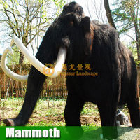 Outdoor decoration life size Mammoth artificial mammoth model