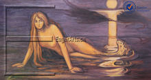 Hot Selling Edvard Handmade Canvas Oil Painting