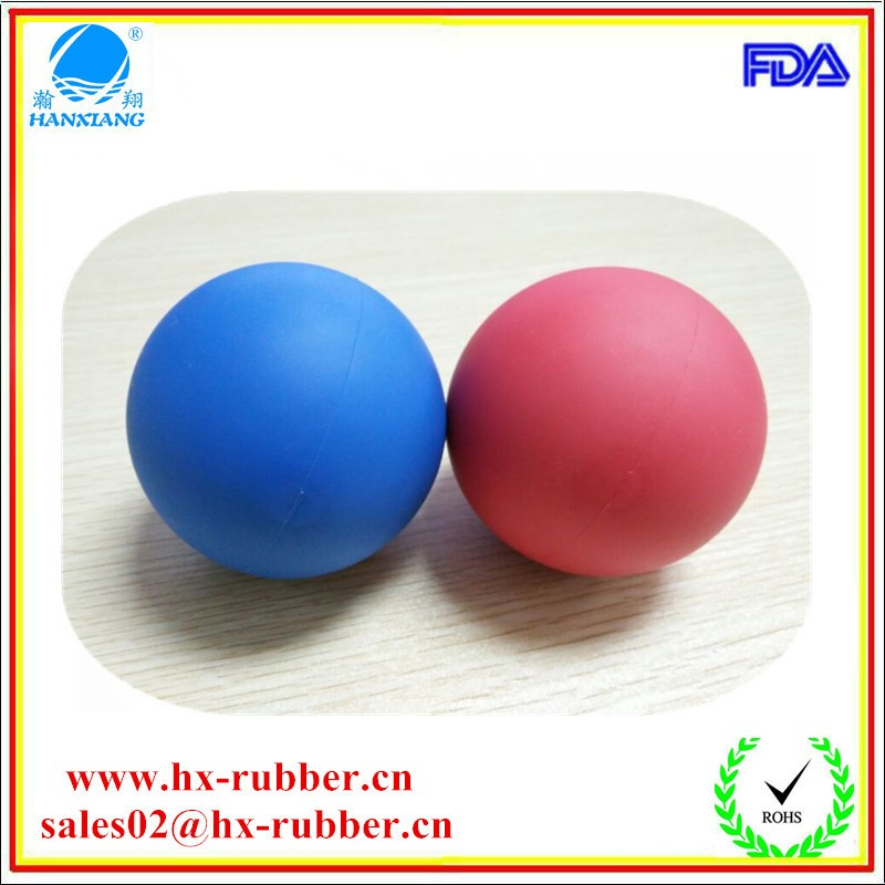 red blue rubber ball