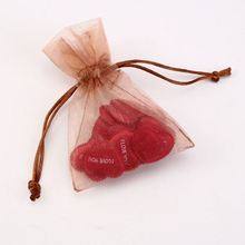 Wholesale fashion gift personalized jewelry printed logo ribbon organza bag