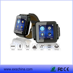 GSM GPS Wrist Watch Cell Latest Wrist Watch Mobile Phone Smart Watch Phone