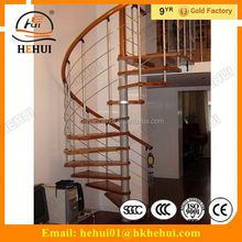 YY-G1037 Hehui home straight stairs modern cast iron stairs with artistic stainless steel stair/staircase