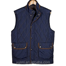 Stand Collar Men's Quilted Nylon Snap Front Vest