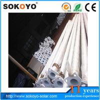 Q235 Galvanized hot dip 2m to 30m outdoor street lighting pole Price
