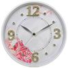 "12"" digital bling bling clock/ wall decorative clock/ flower picture dial wall clock"