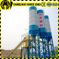 60m3/h high efficiency and measuring nicety concrete batching plant process flow
