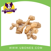 6-6.5inches 10pk dog rawhide natural knotted bones pet product