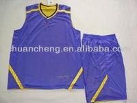100% polyester double face basketball uniform