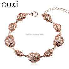OUXI New arrival women's fashion 18k gold plated heart bracelet 30294-2