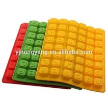 moldes de cocción de chocolate y Alfabeto de silicona