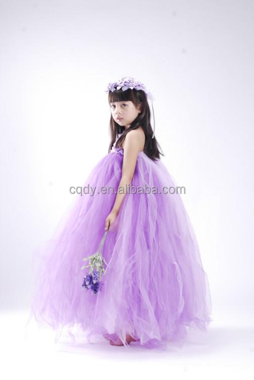2015 New Summer Indian Flower Girl Fluffy Tulle Dress Kids