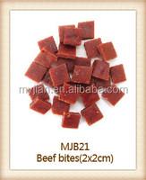 beef bites dry dog treats pet food MJB21