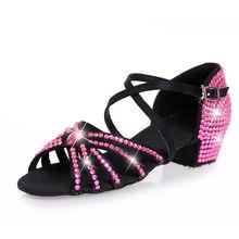 2014 nuevo estilo de zapatos de baile rosa al por mayor prastice los niños zapatos de danza los niños zapatos de baile latino