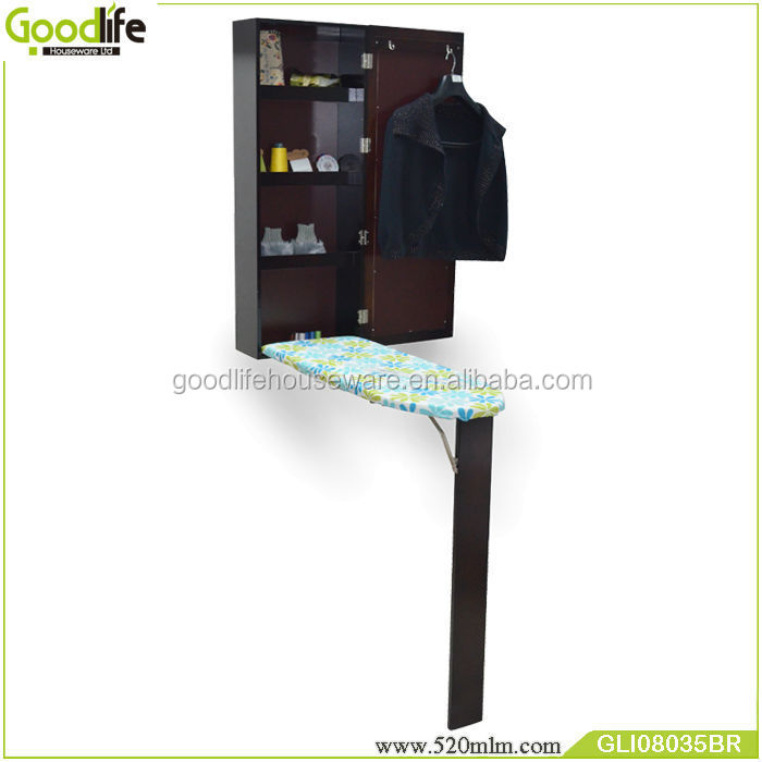 GLI08035space saving dressing mirror +ironing board cabinet made in china