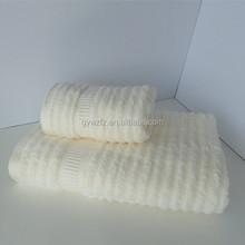 100% cotton plain dyed dobby border hotel towel commericial bath towel