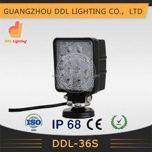 4x4 car accessories 12v waterproof led working 36w led driving work light, 24v spot light led