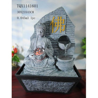 Resin Religious Water Fountain Chinese Buddha Fountain for Home Decor