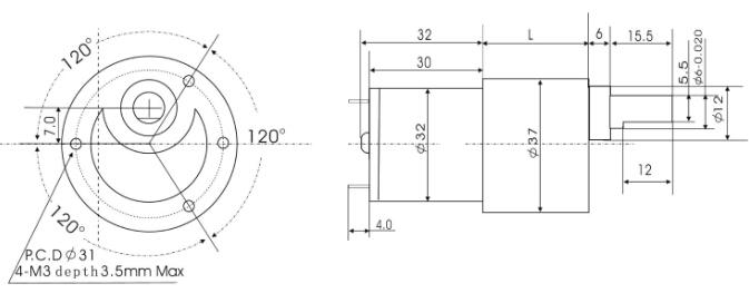 Tg 38 24v dc 300 rpm moteur lectrique couple lev for Dc gear motor specifications