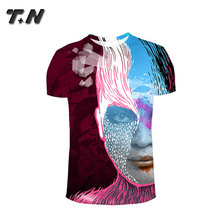 sublimation all printing custom t shirts