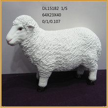high quality large garden fiberglass sheep animal statues decorative