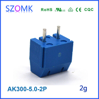 Small PCB Steel Terminal Block Connector Industry Use Project Din Rail Wire Connector