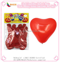 "12"" latex heart balloons in standard red color for party/promotion/decoration"