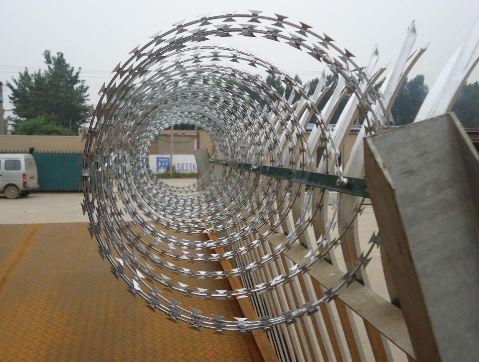 Concertina Razor Wire Above Fencing Cost Per Metre