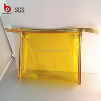 2015 NEW plastic clear pvc cosmetic bag with zipper